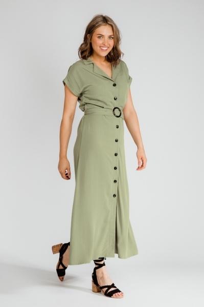 Nova Cinq Maxi-jurken Groen Pomme