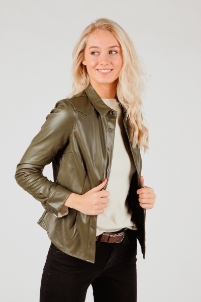 Red Button Blouse Groen Boby