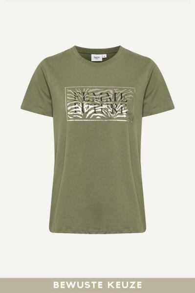 Saint Tropez Shirt / Top Groen 30511155
