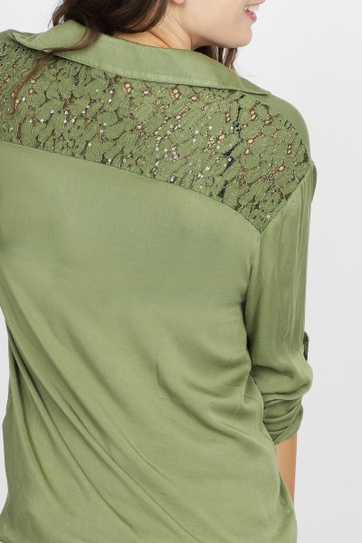 Transfer Shirt / Top Groen 9034102-02
