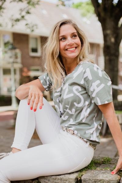 Zoso Shirt / Top Groen Ariane