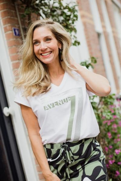 Zoso Shirt / Top Groen Britt