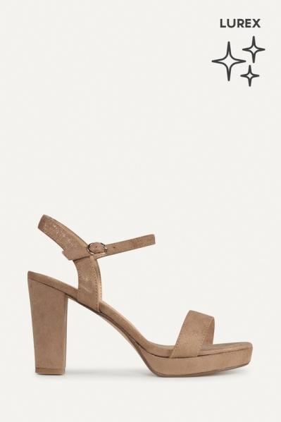 Shoecolate Sandaal hak Zand 1.11.01.012