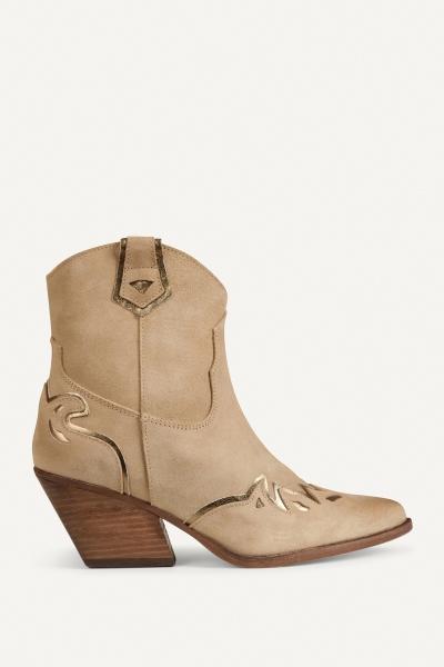 Shoecolate Cowboylaarzen Hak Zand 8.20.08.095