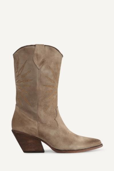 Shoecolate Cowboylaarzen plat Zand 8.20.08.712