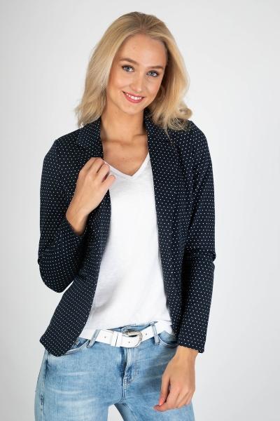 Stipje blauw wit tricot 1 knoop  blauw/wit