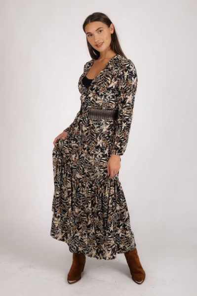 Maxi animal fantasie rand klokkend + hemdje  dierenprint fake