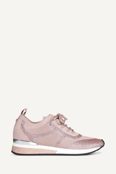 Sneaker glitter licht roze