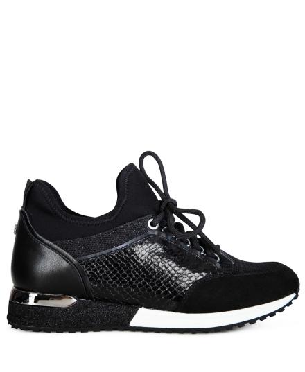 Sneaker met lak zwart