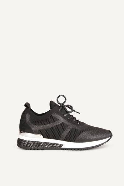 Sneaker glitter zwart
