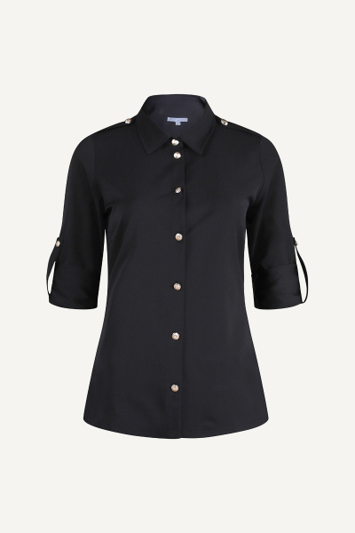 Uni zwart military blouse  zwart