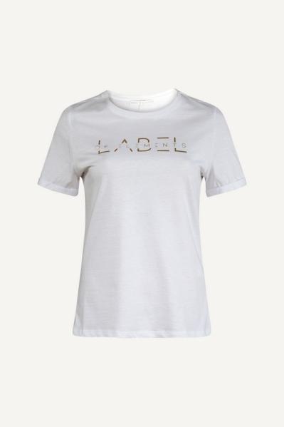 Offwhite shirt + logo goud  off white