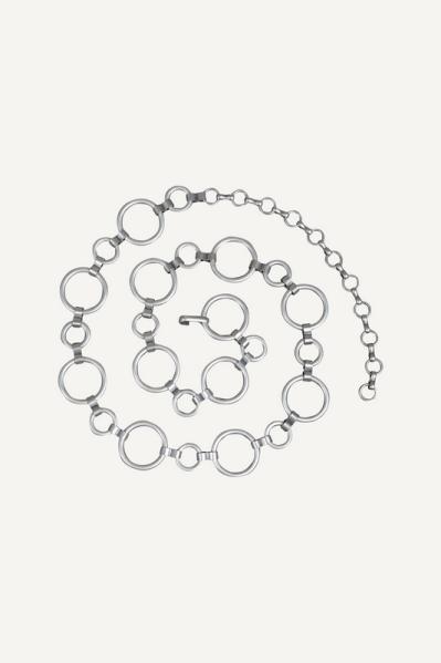 Riem/ketting ringen zilver  zilver / l.grijs