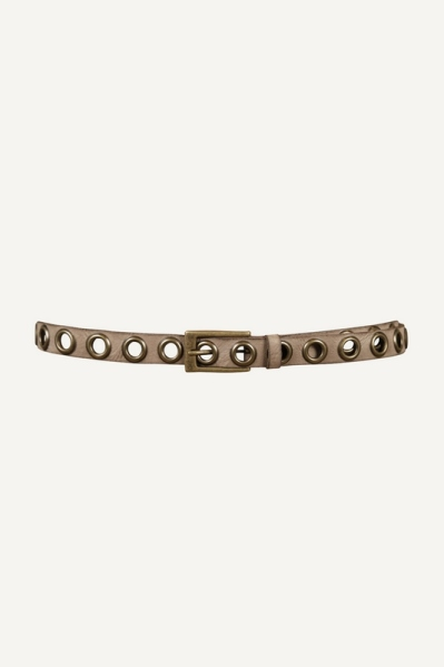 Taupe eyelets groot oud goud  taupe