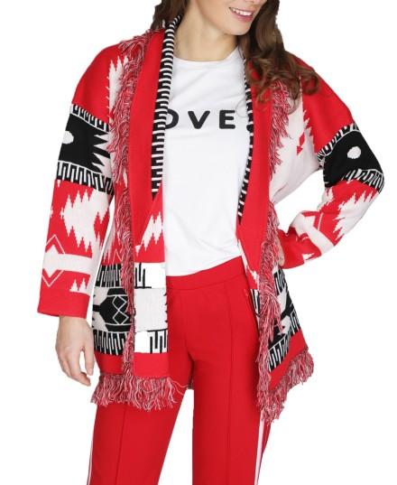 Jas/vest aztec franjes rood  rood