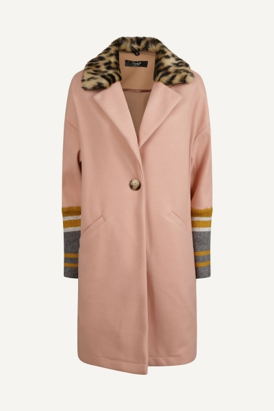 Jas oversized pink/camel multi