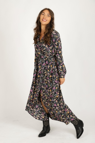 Colourful Rebel Maxi-jurken Multicolor Vivian Flower
