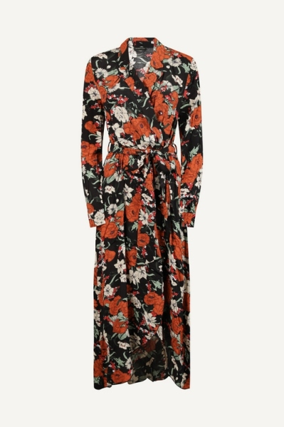 Colourful Rebel Maxi-jurken Multicolor Vivian Big Flower