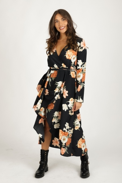 Colourful Rebel Maxi-jurken Multicolor Maya flower