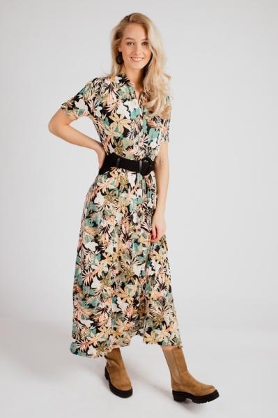 K-Design Maxi-jurk Multicolor S107