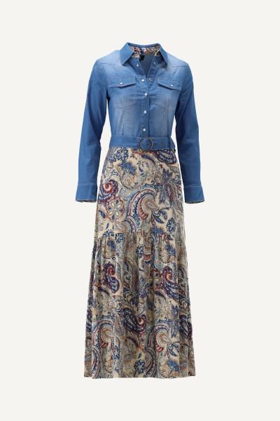 K-Design Maxi-jurk Multicolor T116