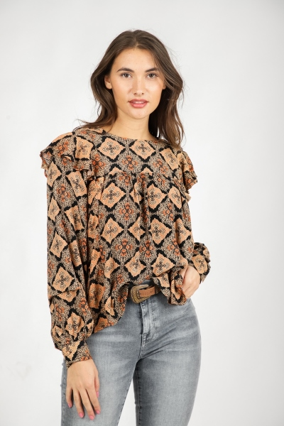 Object Blouse Multicolor 23034504
