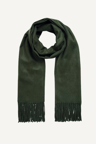 OBJMARILYN WOOL SCARF SEASONAL groen