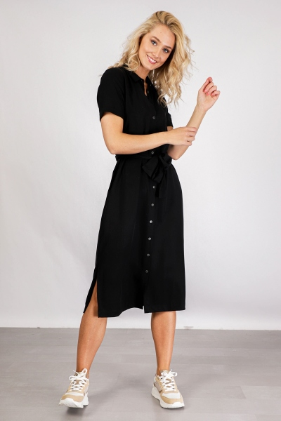 OBJTILDA ISABELLA S/S DRESS NOOS zwart