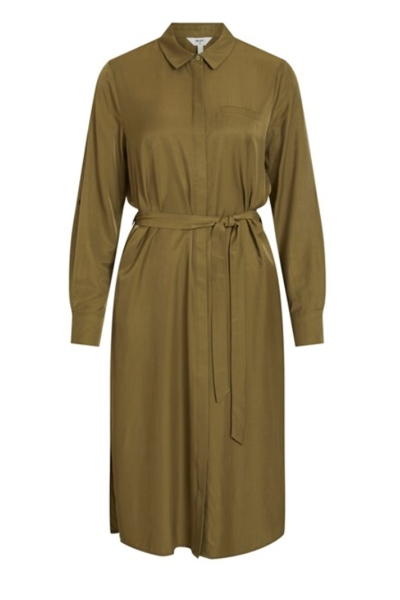 OBJEILEEN L/S SHIRT DRESS NOOS army
