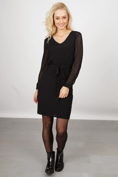 OBJZOE L/S DRESS NOOS zwart