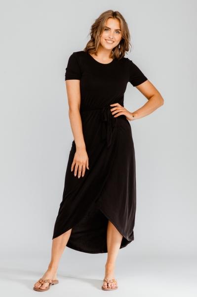 OBJANNIE NADIA S/S DRESS NOOS zwart