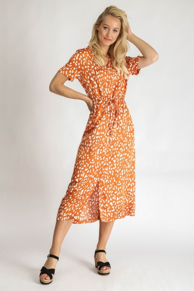 &Co Woman Maxi-jurken Oranje Brechje