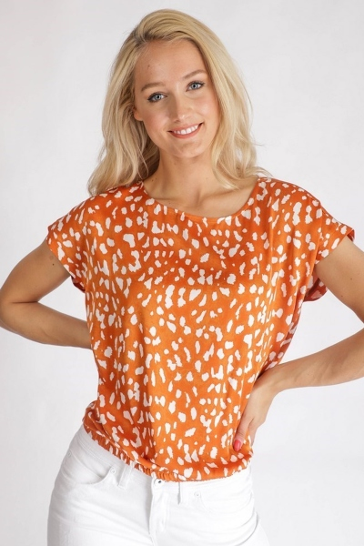 &Co Woman Shirt / Top Oranje Beau