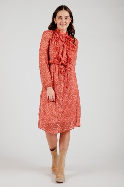 Saint Tropez Jurk Oranje Xelina dress