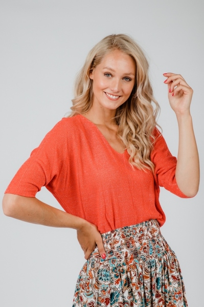 Typical Jill trui Oranje Sofie shine