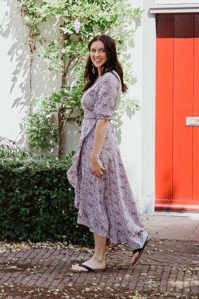 Ambika Maxi-jurken Paars Royal