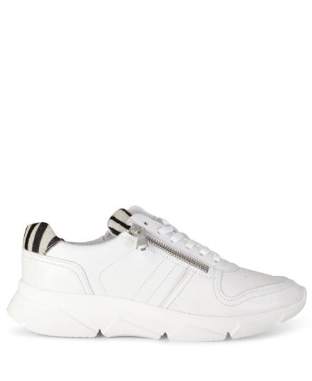 Sneaker zebra wit
