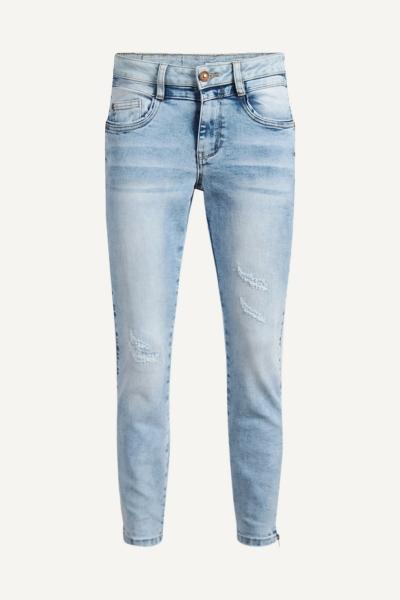 Jeans met vegen denim