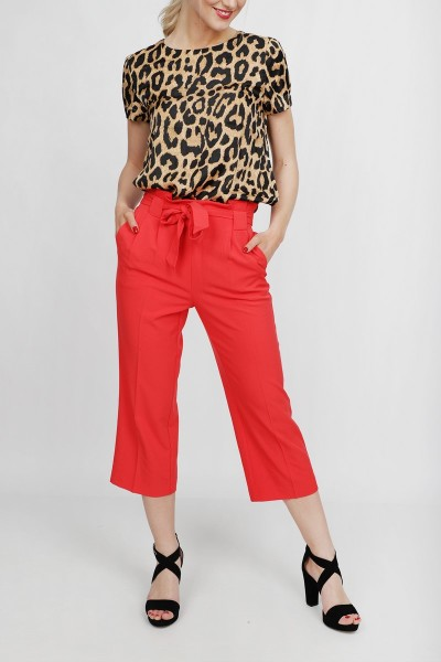 Freequent Broek Rood Lidy-ANKLE-PA