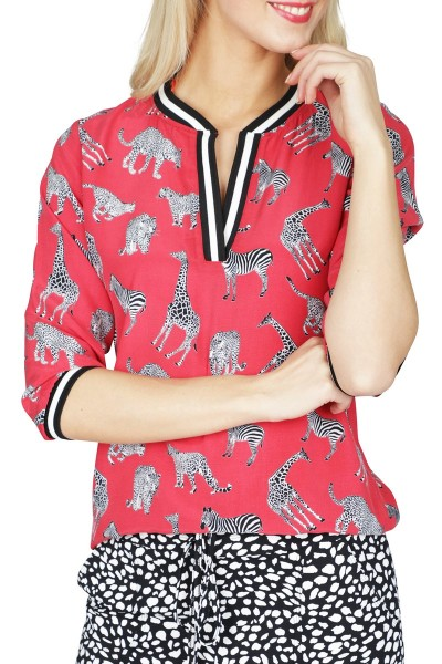 Geisha Shirt / Top Rood 93273-20