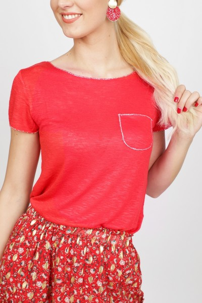 Key Largo Shirt / Top Rood WT Dublin