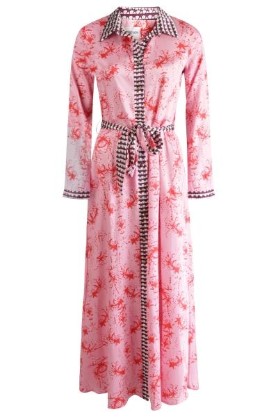 Est'seven Maxi-jurken Roze Est' Coral Pink
