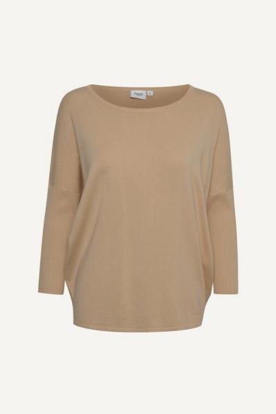 A2561, MilaSZ R-Neck Pullover beige