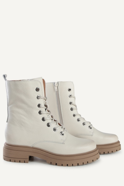 Veterboot laag offwhite off white