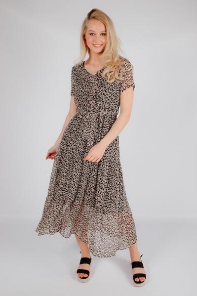jurk lang strik met print multi