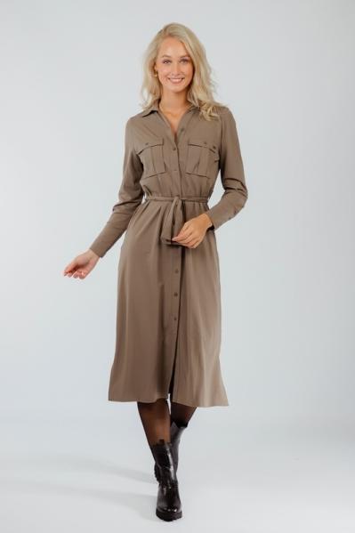 Ambika Maxi-jurk Taupe London
