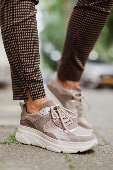 Poelman Sneaker Taupe P7085BAL