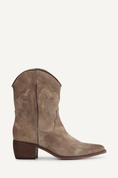Shoecolate Cowboylaarzen plat Taupe 8.20.08.043