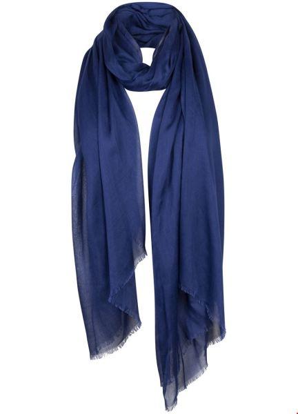 Scarf Solid blauw