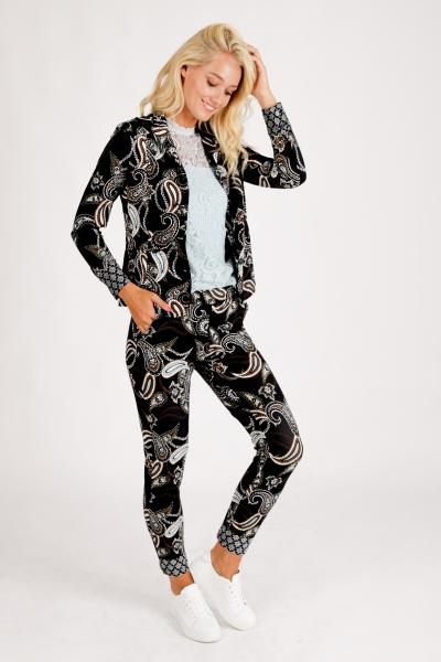 Trousers Travel Dark Paisley Print multi